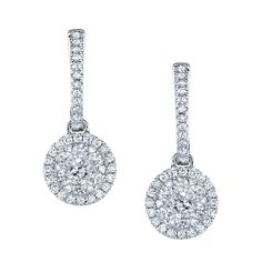 Coronet Diamonds Shai Earrings in 14k White Gold. @coronetdiamonds.com #diamonds #earrings #wm.harold.com
