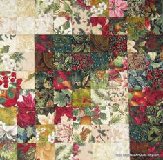 christmas+wall+quilts | Quilted Wall Hanging - Christmas Color Wash Style Quilt