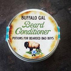 Beard Conditioner & Skin Healing Balm // For Bearded Bad Boys //Shea Butter Balm Water Free Vegan Organic