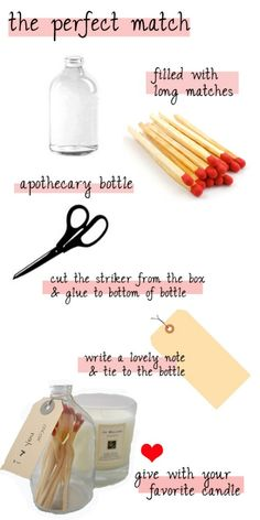 cute DIY idea to match with store-bought candle