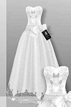 Sims 4 CC's - The Best: Wedding Dress by CrownFashion