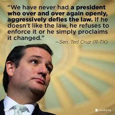 Sen. Ted Cruz on Obama Executive Branch excesses