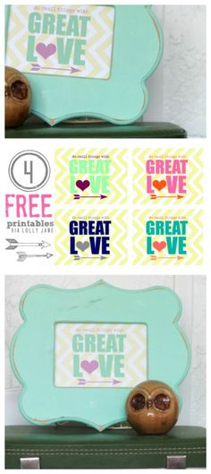 Do Small Things with Great Love FREE printable in FOUR color schemes!