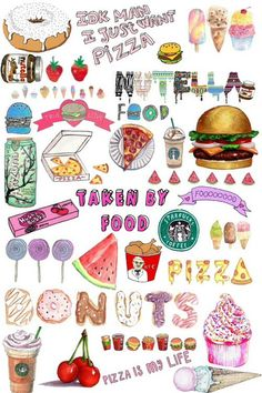 Image de food, pizza, and starbucks