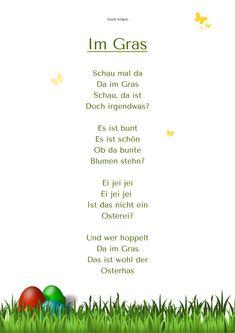 """Im Gras"" Ostern Gedicht  Kita-Kiste Anett Kölpin"