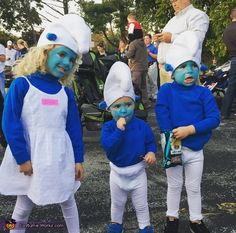 Emily: I am a 36 year old mom of 3 under 4. I was a Smurf for Halloween when I was 4 so I decided it was the perfect costume for...