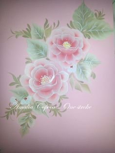 one stroke flowers So nice and soft. China Painting, Tole Painting, Fabric Painting, Painting & Drawing, Donna Dewberry Painting, One Stroke Painting, Arts And Crafts Projects, Learn To Paint, Painting Patterns