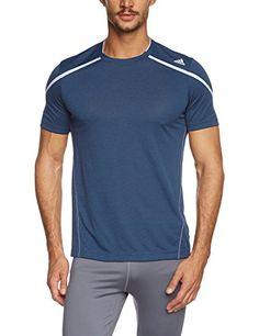 adidas Kurzärmliges Shirt Adizero Boston - Camiseta de running para hombre, color azul, talla XL #camiseta #realidadaumentada #ideas #regalo