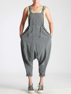 OVERALLS MADE OF RUSTIC COTTON WITH MILITARY DYE