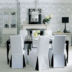 Pictures Of Dining Chair Covers