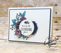 Celebrating You-For The Love of Creating Blog Hop with Wendy Lee,stampin up,stamping,handmade, perennial birthdays stamp set, celebration, special occasion, diemonds team swap