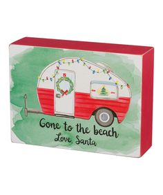 Look at this 'Come to the Beach Love Santa' Box Sign on #zulily today!