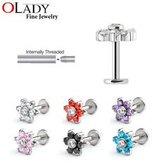 Flower Style Trag... has just been added to our store. Get it here while still available http://everythingskull.com/products/flower-style-tragus-earring-100-titanium-g23-labret-lip-piercing-tragus-ring-body-jewelry?utm_campaign=social_autopilot&utm_source=pin&utm_medium=pin