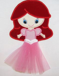 Ariel Cutie applique in tulle tangled by BowsAndClothesDesign