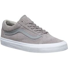 Vans Supplied By Office Old Skool Trainers 86 Liked On Polyvore Featuring Shoes Sneakers Grey Lace Up