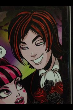 "Draculaura and Valentine in the Monster High comic ""I Only Have Eye For You"""
