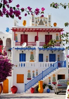 To know more about Mykonos,Greece Ornate House, visit Sumally, a social network that gathers together all the wanted things in the world! Featuring over 13 other Mykonos,Greece items too! Places Around The World, Oh The Places You'll Go, Around The Worlds, Beautiful World, Beautiful Homes, Beautiful Places, House Beautiful, Amazing Places, Colourful Buildings