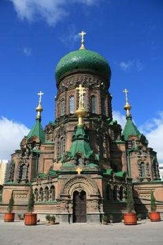 St. Sofia Orthodox Church Harbin, China (I wish I got to see harbin in winter!!!)