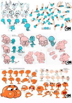 """Artes de produção de """"The Amazing World of Gumball"""""""