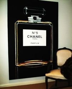 This would be amazing art for a dressing room or a ladies bedroom ...a nod to a signature scent.