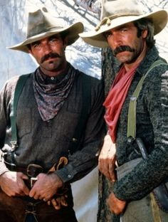 Tom Selleck and Sam Elliott. Sam Elliott has the sexiest voice! Tom Selleck, Westerns, Jessy James, James Stacy, O Cowboy, Cowboy Pics, Cowboy Images, Cowboy Pictures, Sexy Cowgirl