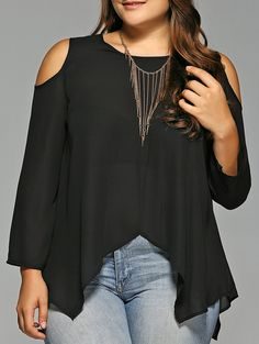 SHARE & Get it FREE   Plus Size Cold Shoulder Irregular Hem BlouseFor Fashion Lovers only:80,000+ Items • New Arrivals Daily • Affordable Casual to Chic for Every Occasion Join Sammydress: Get YOUR $50 NOW!