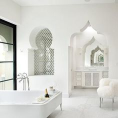 Moroccan Bathroom, Mediterranean, bathroom, Gordon Stein Design