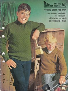 Paton's Knitting Pattern No 740 for Boys & by jennylouvintage