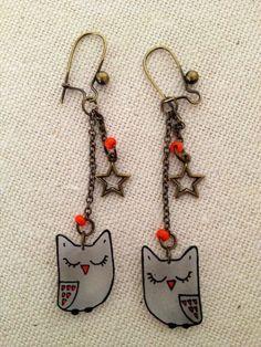 Owl earrings {repinned by WEEMEMORIES}