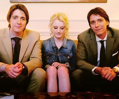 George, Fred and Luna from Harry Potter. I just think this is a cool photo.