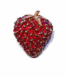 Vintage gold strawberry pin by Shouldabeensistas on Etsy, $15.00