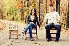Instead of Maternity Pic this is an Adoption pic! LOVE this idea!