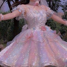 Pretty Outfits, Pretty Dresses, Beautiful Dresses, Cute Outfits, Elegant Dresses, Fairytale Dress, Fairy Dress, Kawaii Fashion, Cute Fashion