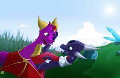 Spyro And Cynder, Spyro The Dragon, Female Dragon, Cool Dragons, Skylanders, Furry Art, Playstation, Sonic The Hedgehog, Sony