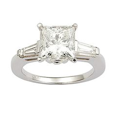 My engagement ring - princess cut diamond with baguettes on the sides