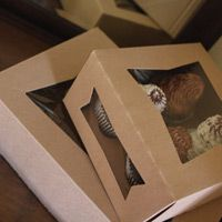 bakery packaging ideas   window bakery boxes our line of naturally kraft window bakery boxes ...