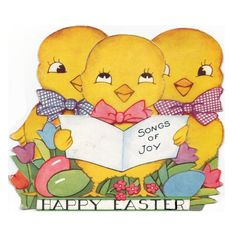 Easter chicks sing joy songs funny party pillow cushion cover handmade 2 side #Handmade