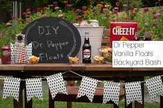 DIY Dr Pepper Vanilla Float Station #BackyardBash #shop - Fancy Shanty