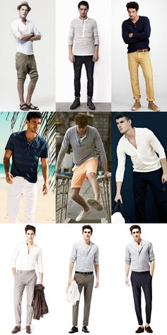 Dressing Down In Spring/Summer: The Humble Henley Lookbook Inspiration