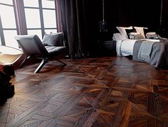 The hardwood parquet floor we are installing in the Palatine house. Rich!