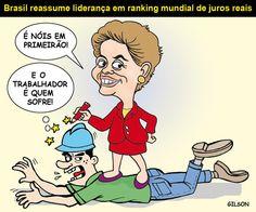 Brasil, 1° lugar mundial em juros!