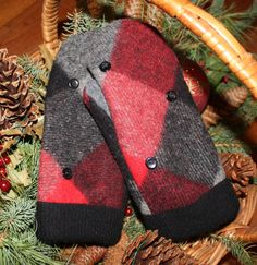 Handmade Wool Mittens Made From Recycled Sweaters by MittenHeaven