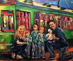 Wedding Painter & Reception Painter New Orleans, Pappion Artistry makes your special moments come to life! New Orleans Art, Deep Blue, Blue Topaz, Favorite Color, Portrait, Live, Pretty, Wedding, Painting