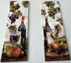 39 Best Wines Fruit Vegetable Tile Murals Images On Pinterest