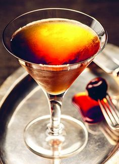 manhattan cocktail - are you ready to get all Madmen!