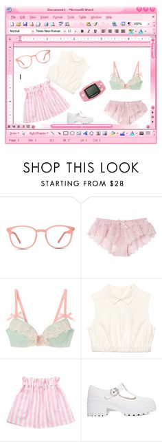 """""""Express"""" by nanami-s ❤ liked on Polyvore featuring GlassesUSA, ASOS, Pink, glasses and pinkandwhite"""