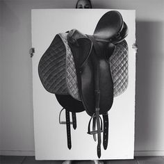 These are not photos! Amazing pen drawings by artist CJ Hendry A BEAUTIFUL SADDLE