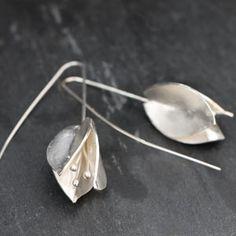 Boucles d'oreilles 'bougainvillée' en argent