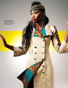 African Print makes the perfect African accent to a winter coat- African Inspired
