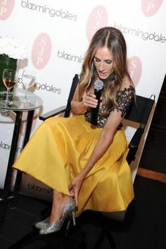 Sarah Jessica Parker wearing Reem Acra Resort 2016